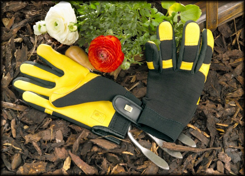 Gold Leaf Gardening Gloves for people serious about gardening